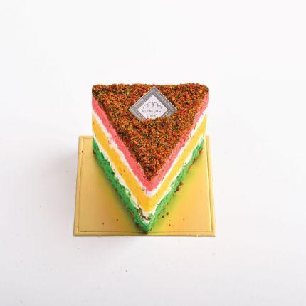 Rainbow Chiffon Slice Cake